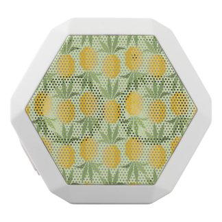 Retro Pineapples White Bluetooth Speaker