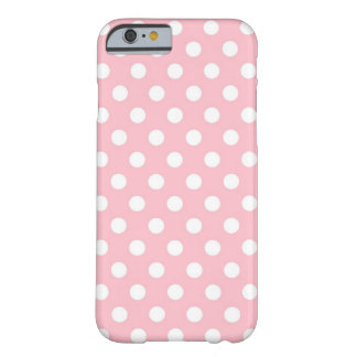 Retro Pink and White Polka Dots iPhone 6 case