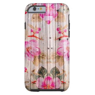 Retro Pink Antique Floral Pattern Vintage Wood Tough iPhone 6 Case