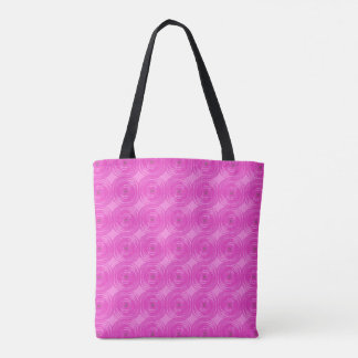Retro Pink Circles Tote Bag