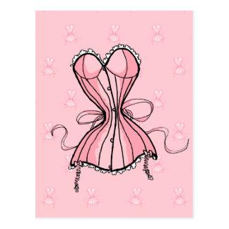 Retro Pink Corset Postcard
