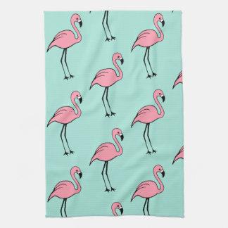 Retro Pink Flamingo Kitchen Towel Gift