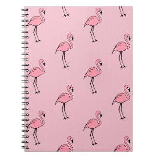 Retro Pink Flamingo Office School Notebook Gift