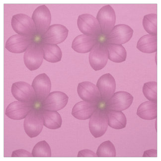 Retro Pink Floral Fabric