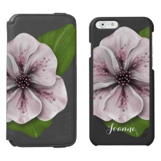 Retro Pink Floral Incipio Watson™ iPhone 6 Wallet Case