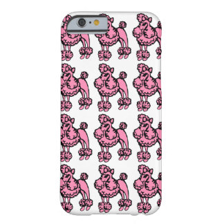 Retro Pink French Poodle iPhone Case Cover
