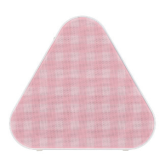 Retro Pink Gingham Checkered Pattern Background Speaker