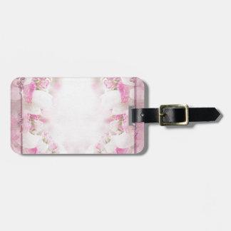 Retro pink luggage tag