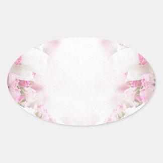 Retro pink oval sticker