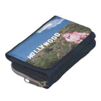 Retro Pink Poodle Hollywood CA Denim Wallet
