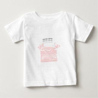 RETRO PINK TYPEWRITER BABY T-Shirt