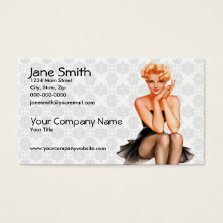 Retro Pinup Business Card
