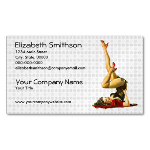 Pinup business cards business card printing zazzle ca retro pinup girl magnetic business card colourmoves