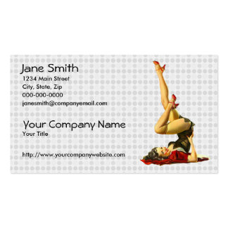 Retro Pinup Girl Pack Of Standard Business Cards