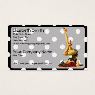 Retro Pinup Girl V4 Business Card