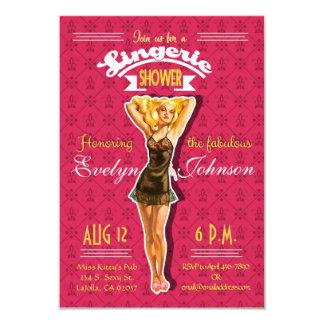 Retro Pinup Lingerie Bachelorette Party Invitation