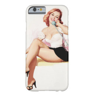 Retro Pinup on a Telephone Barely There iPhone 6 Case