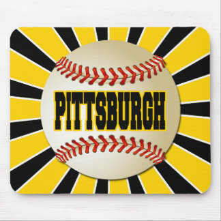 RETRO PITTSBURGH BASEBALL MOUSE PAD