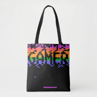 Retro Pixelated Gamer Tote Bag