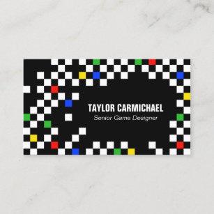 Pixel business cards profile cards zazzle ca retro pixels game designer business card colourmoves