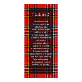 Retro Plaid Rack Card