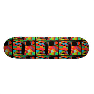 Rétro planche à roulettes de chaise de coin-repas plateau de skate
