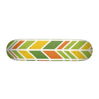 Rétro planche à roulettes orange et verte en skateboard 20,6 cm