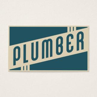 retro plumber business card