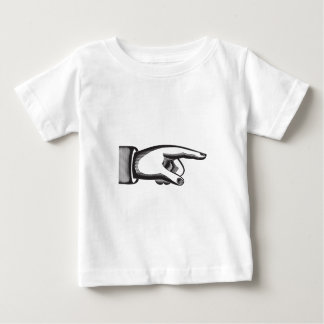 retro pointing index  finger baby T-Shirt