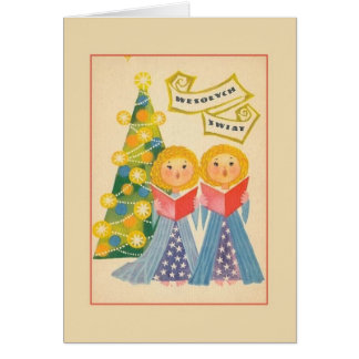 Retro Polish Christmas Greeting Card