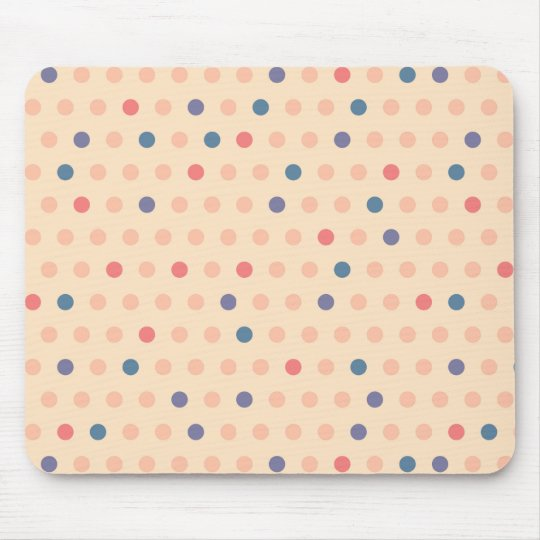 Retro Polka Dot Mouse Pad