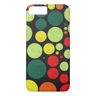 Retro Polka Dot Painted Canvas iPhone 7 Plus Case