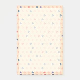Retro Polka Dot Post-it Notes