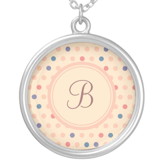 Retro Polka Dot Silver Plated Necklace