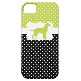Retro Polka Dot w/Labrador iPhone 5 Covers
