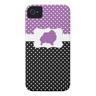 Retro Polka Dot w/Pomeranian iPhone 4 Covers