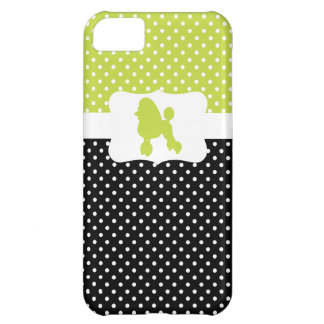 Retro Polka Dot w/Poodle Case For iPhone 5C