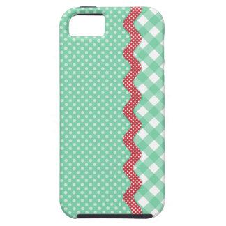 Retro Polka Dots and Checks iPhone 5 Cover