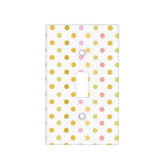 Retro Polka Dots Light Switch Cover