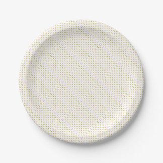 Retro Polka Dots Paper Plate