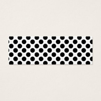 Retro Polkadots - Black & White Mini Business Card