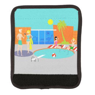 Retro Pool Party Luggage Handle Wrap