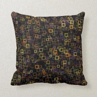 Retro Pop Art Mod Squares Throw Pillow