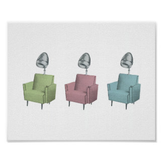 Retro Pop Art Salon Dryer Chair 8x10 Print