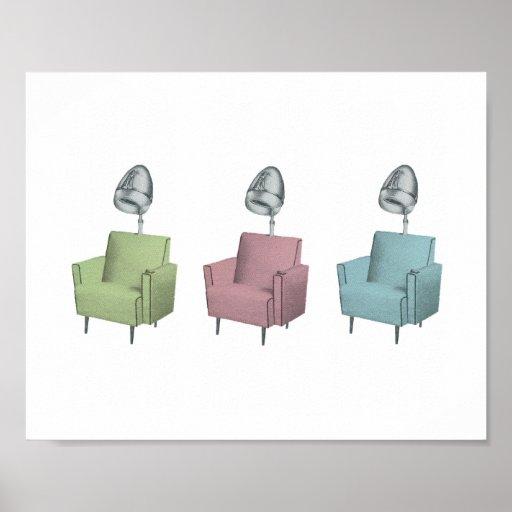 Retro Pop Art Salon Dryer Chair 8x10 Print