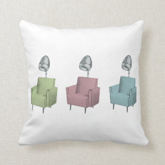 Retro Pop Art Vintage Salon Dryer Chairs Pillow