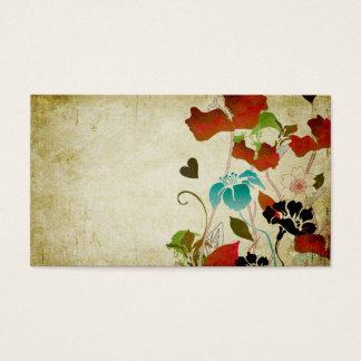 Retro poppies Business Card