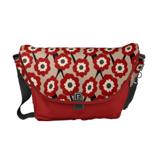 Retro Poppy Floral Courier Bags