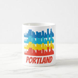 Retro Portland OR Skyline Pop Art Coffee Mug