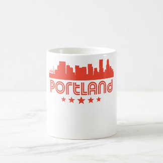 Retro Portland Skyline Coffee Mug